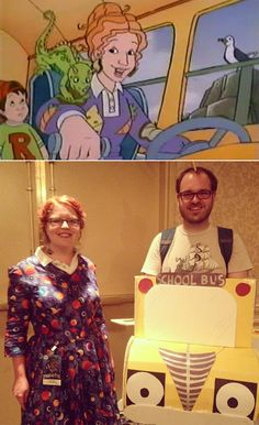 Pin for Later: 12 Bomb Dot Com Halloween Costumes For Couples Ms. Frizzle and the Magic School Bus