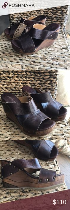 Bed Stu Olea Wedges New with box. Teak rustic color, size 8.5. These are too big for me. Bought them on final sale and can't return. Bed Stu Shoes Wedges