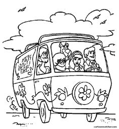 freds driving mystery machine scooby doo coloring pages printable and coloring book to print for free. Find more coloring pages online for kids and adults of freds driving mystery machine scooby doo coloring pages to print. Kids Printable Coloring Pages, Coloring Pages To Print, Colouring Pages, Coloring Sheets, Coloring Books, Scooby Doo Coloring Pages, Halloween Coloring Pages, Free Adult Coloring, Coloring Pages For Kids