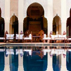 You can only make a riad hotel so big. But if you're stuck for size, you can join them together — La Sultana, for example, combines four traditional Marrakchi courtyard mansions into one contiguous complex, and in so doing creates one of the medina's most complete luxury hotels. In some towns 28 rooms and suites would still fall decidedly on the small side, but here numbers like that make La Sultana one of the biggest players in town.