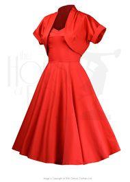 50s Halter Swing Dress Set - Scarlett