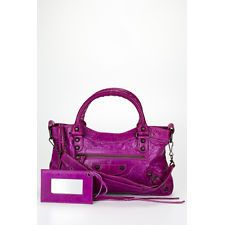 BALENCIAGA Bright Purple Leather First Handbag HB114