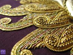 Advanced Gold work by Jane D - detail 1 by Royal School of Needlework - Durham, via Flickr