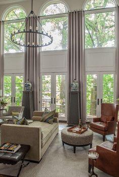 Christopher Patrick Interiors Drapery Panels Living Room Windows Home