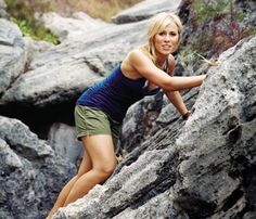 How Many Calories Are You Burning? Rock Climbing: Rock climbing probably uses more muscles than any other sport and is a major calorie torcher. 30 minutes of climbing burns about 709 cals, while 30 minutes of rappelling (coming down with the help of a harness and pulley system) burns about 511. #SelfMagazine