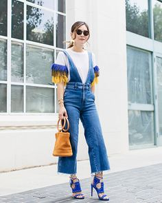 Get this look: http://lb.nu/look/8856909 More looks by Elizabeth Lee (Stylewich): http://lb.nu/stylewichliz Items in this look: Anthropologie Fringe Sweater, Free People A Line Overalls, Simon Miller Bonsai Bag, Modern Weaving Moon Dancer Earrings #bohemian #chic #street