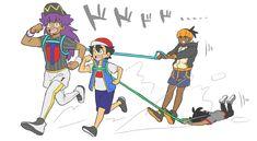 くぁ~~~~今日も楽しみ過ぎるな…pic.twitter.com/LbLC5DMqxo Pokemon Ash Ketchum, Ash Pokemon, Pokemon Ships, Pokemon Comics, Pokemon Memes, Pokemon Funny, Pokemon Ash And Serena, Pokemon Champions, Gym Leaders