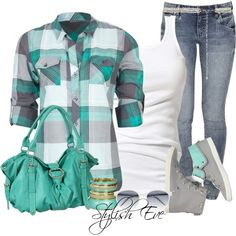 Green and grey checker