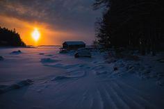 Sunset At Maijansalmi, Pyhtää, Kymenlaakso, Finland