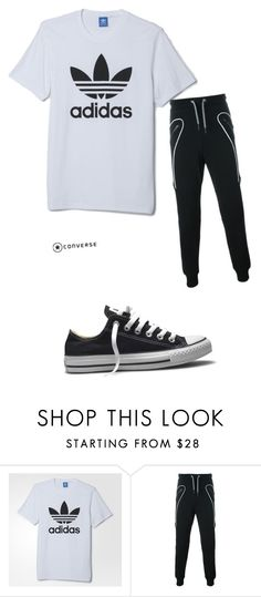 """""""Untitled #25"""" by mariettakorcsmaros ❤ liked on Polyvore featuring adidas, Les Hommes, Converse, men's fashion and menswear"""