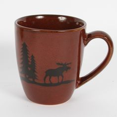 Features:  -Woodland River collection.  -Material: Sturdy stoneware.  -Recommended handwash.  Product Type: -Coffee mug.  Color: -Burgundy.  Material: -Stoneware.  Style: -Traditional.  Pattern: -Nove
