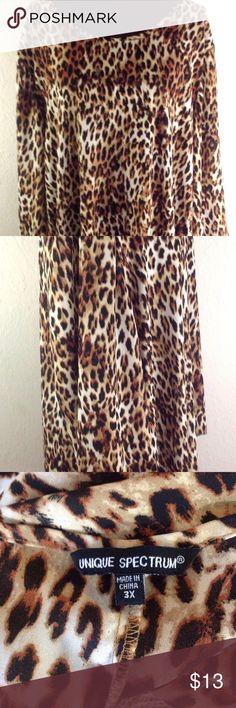 Animal Print Tunic Black and Gold Size Women's Plus Animal Print Tunic Black and Gold Size 3x Tops Tunics