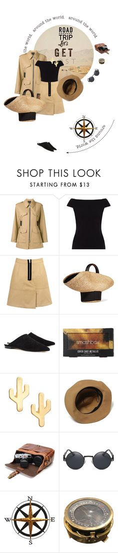 """""""Rev It Up: Road Trip Style"""" by lacas ❤ liked on Polyvore featuring GET LOST, Alexander Wang, People Tree, Eugenia Kim, Raye, Smashbox, CAM, Fetco and roadtrip"""