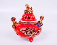 Japanese Incense Burner Porcelain Moriage by LeVintageGalleria, $32.00