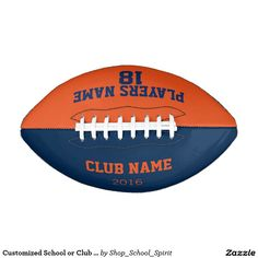 Customized School or Club Football