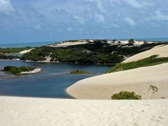 Genipabu is a beach with a complex of huge dunes and a lagoon in Natal, Rio Grande do Norte, Brazil Rio Grande Do Norte, The Places Youll Go, Places To See, Alien Worlds, World Photo, Beaches In The World, Island Beach, White Sand Beach, Beach Fun