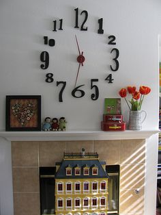 Good idea instead of messing with stenciling...house numbers might work!