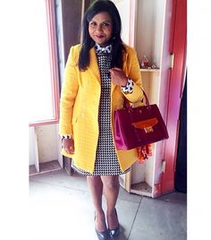 The Definitive Guide to Wearing Prints Like Mindy Kaling via @WhoWhatWear