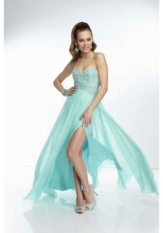 Prom Dresses Flamboyant Sweetheart Floor Length Prom Dress Beaded Bodice Open Back A Line Sexy , You will find many long prom dresses and gowns from the top formal dress designers and all the dresses are custom made with high quality Aqua Prom Dress, Prom Dress 2014, Beaded Prom Dress, Beaded Chiffon, Homecoming Dresses, Strapless Dress Formal, Dresses 2014, Prom 2014, Chiffon Gown