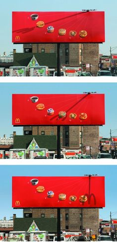 McDonald´s Sundial Billboard, Chicago by Leo Burnett