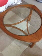 G Plan Round Coffee table with new  toughened glass top BARGAIN ebay 99p!!!!