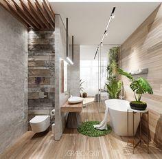 Home Interior Velas .Home Interior Velas Modern Bathroom Design, Bathroom Interior Design, Modern House Design, Bath Design, Bathroom Trends, Bathroom Spa, Master Bathroom, Bathroom Ideas, Dream Bathrooms