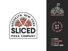 Pizza Logo and Branding by Charles Honig on Dribbble Pizza Branding, Pizza Logo, Logo Branding, Branding Design, Menu Design, Stationery Design, Brand Identity, Design Design, Restaurant Branding