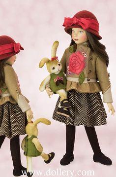 Maggie Iacono Collectible Dolls Felt Dolls