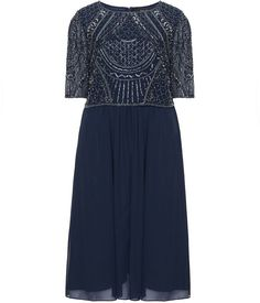 Pin for Later: Be the Belle of the Ball in These Plus-Size Party Dresses Navabi Plus Size Embellished Chiffon Dress Navabi Plus Size Embellished Chiffon Dress (£228)