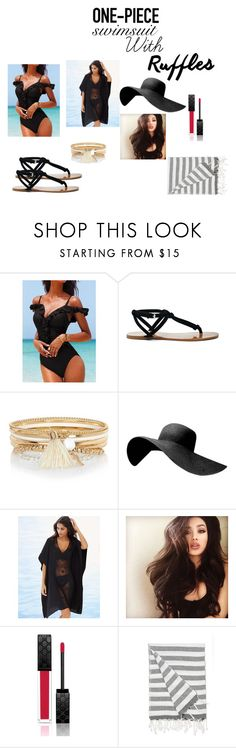 """""""Untitled #56"""" by bella105 on Polyvore featuring Sole Society, River Island, Soma, Gucci, IGH and ruffledswimwear"""