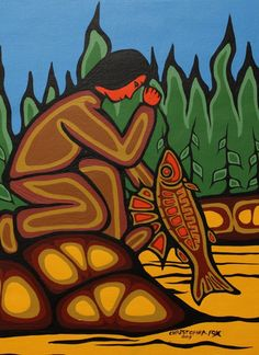 Kitigan Christopher Fox - Fisherman and Catch, $150.00 (http://www.kitigan.com/fisherman-and-catch/)