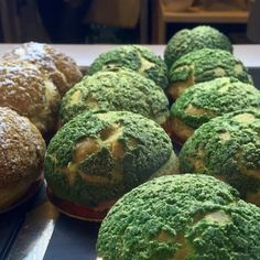 Bibble & Sip - New York, NY, United States. Matcha (Green Tea) Cream Puffs - Bibble and Sip