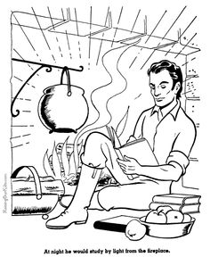 Lincolns Birthday Coloring Pages Fun