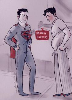 guys i think i ship superbat Superman X Batman, Superman Family, Marvel Dc Comics, Bruno Diaz, Superbat, Clark Kent, Young Justice, Teen Titans, Couple