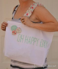 Silhouette + fabric interfacing = embellished_canvas_tote - by infarrantly creative
