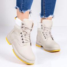 Bocanci imblaniti dama bej Audina -rl Timberland Boots, High Tops, High Top Sneakers, Sport, Casual, Fashion, Moda, Deporte, Fashion Styles