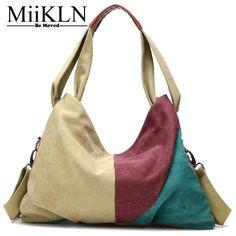 MiiKLN New Bag Casual Tote Ladies 2017 Fashion Canvas Bag For Women Shoulder Crossbody Handbag Big Bags Large Capacity Soft  #Affiliate