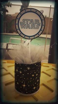Check out this item in my Etsy shop https://www.etsy.com/listing/241143549/star-wars-theme-centerpiece-party