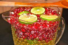 white wine pomegranate lime sangria. oh goodness.