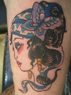 Gypsy Girl Tattoo by Heaven N Hell, via Flickr