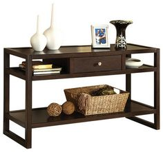 Ambrose Sofa Entry Table by Furniture of America - contemporary - console tables - Madison Seating