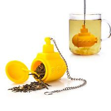 Cute Submarine Silicone Tea Infuser Loose Tea Leaf Strainer Filter Diffuser 0519