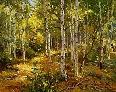 Aspen Grove by Mark Haworth Oil ~ 8 x 10