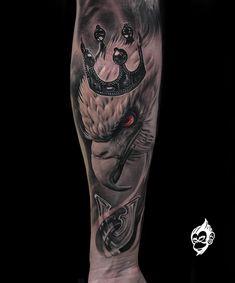 Animal Sleeve Tattoo, Skull Sleeve Tattoos, Arm Sleeve Tattoos, Tattoo Sleeve Designs, Leg Tattoos, Body Art Tattoos, Larry Tattoos, Hand Tattoos For Guys, Biker Tattoos