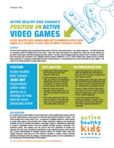 AHKC Position on Exergaming Get Moving, Healthy Kids, Remote, It Hurts, Positivity, Healthy Children, Pilot, Optimism