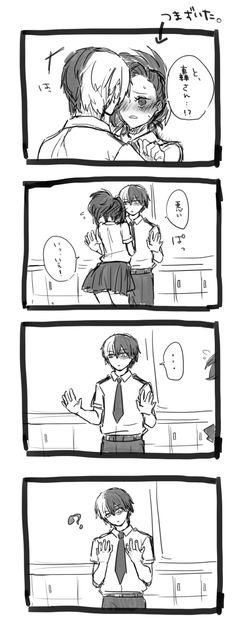 Boku no Hero Academia || Todoroki Shouto, Momo Yaoyorozu.