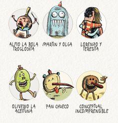 personajes-Por-Liniers-3 Retro 1, Humor Grafico, Daffodils, Peanuts Comics, Disney, Draw, Cartoon, Books, Illustration