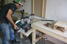 DIY Folding Miter Saw Table | Make The Most Of A Small Shop | Woodwork Junkie
