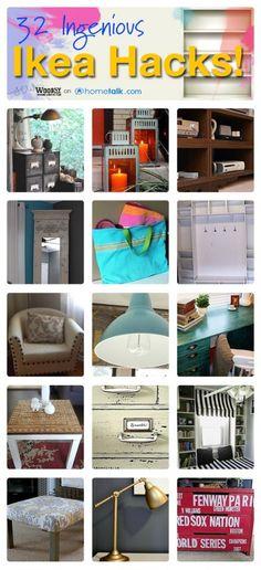 32 DIY Ikea Hacks from shelves, crafts, furniture, kitchen, and design