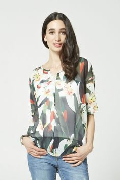 Lily Print Oversized Blouse